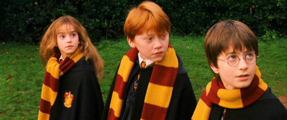Daniel Radcliffe, Rupert Grint y Emma Watson