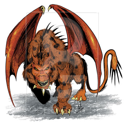 The manticore character from a