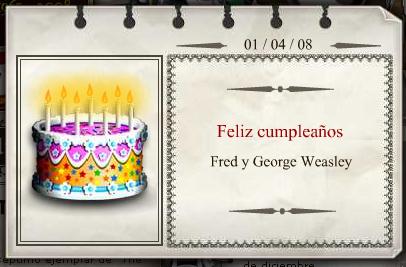 BlogHogwarts - Feliz Cumpleaños, Fred y George Weasley!