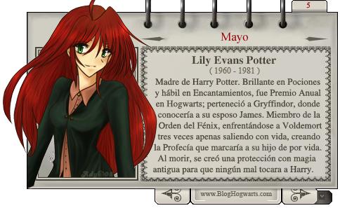 Lily Potter - Mago del Mes Mayo