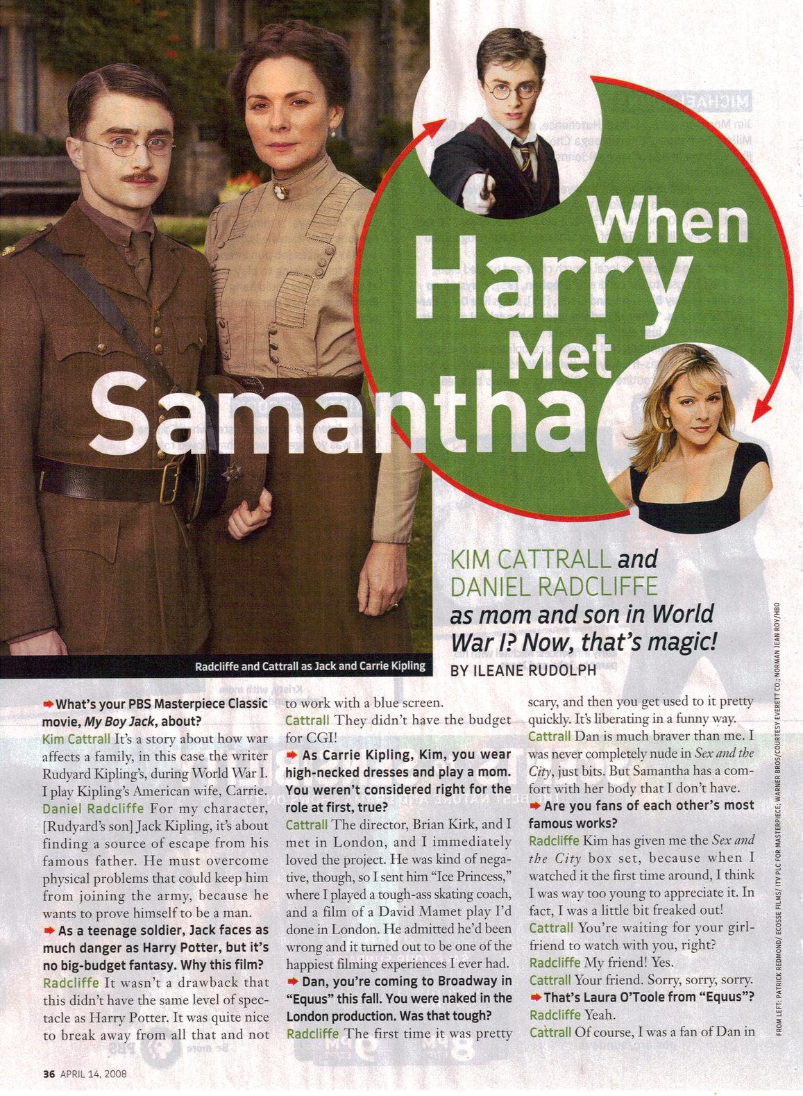 BlogHogwarts - Entrevista de Daniel Radcliffe para 'TV Guide'