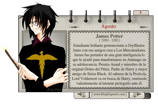 James Potter - Mago del Mes Agosto