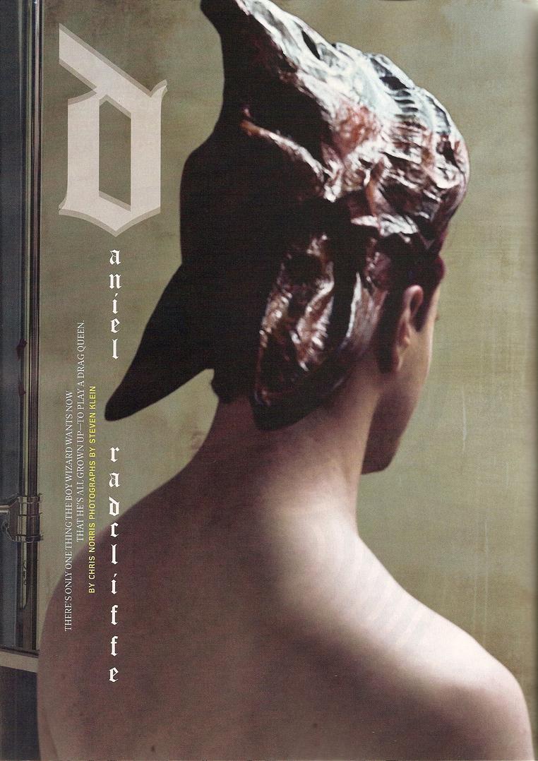 Daniel Radcliffe en la Revista Details