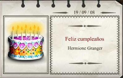 Hermione Granger Cumpleaños