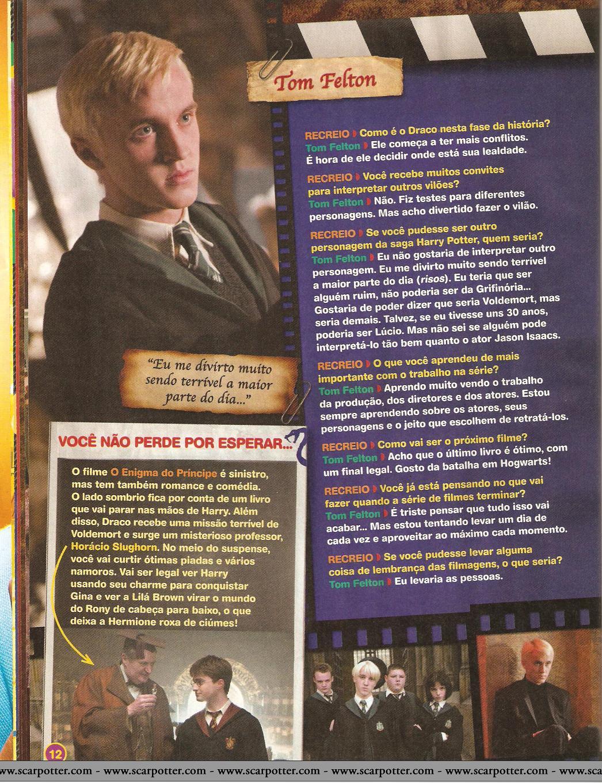 Harry Potter y el Misterio del Príncipe en la Revista Recreio