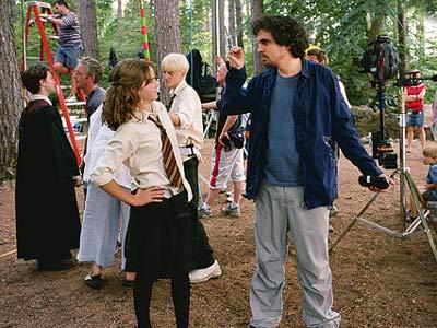 Alfonso Cuaron en el set de Harry Potter y el Prisionero de Azkaban