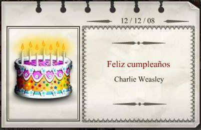 Feliz Cumpleaños Charlie Weasley