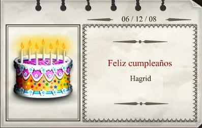 Cumpleaños Hagrid