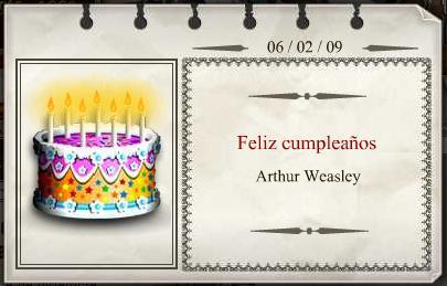 Feliz Cumpleaños Arthur Weasley