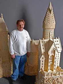 Castillo de Hogwarts Creado con Fosforos