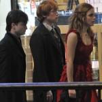 Daniel Radcliffe (Harry Potter), Rupert Grint (Ron Weasley), Emma Watson (Hermione Granger)