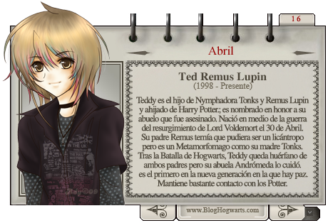 Teddy Lupin - Mago del mes Abril