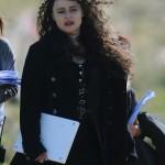 Helena Bonham Carter como Hermione Granger transformada en Bellatrix Lestrange