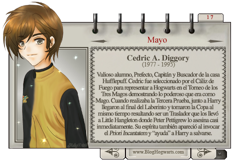 Cedric Diggory Mago del Mes de Mayo