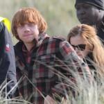 Rupert Grint y Emma Watson - Rodaje Harry Potter y las Reliquias de la Muerte
