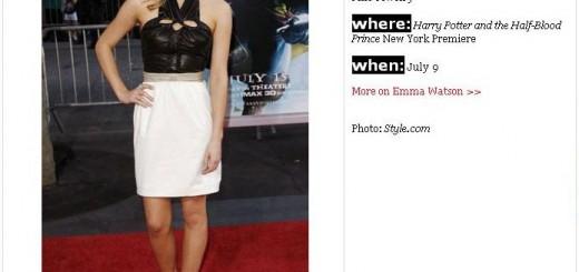 Emma Watson Teen Vogue Best Dressed July 2009