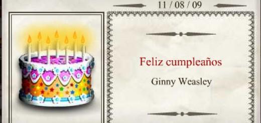 Feliz Cumpleaños, Ginny Weasley