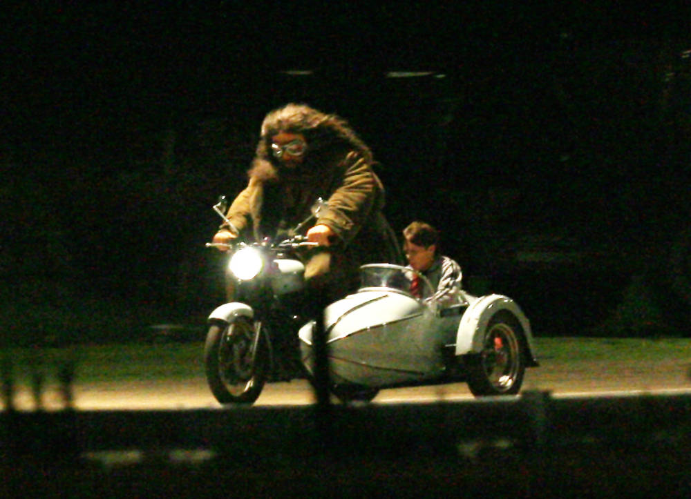 Dobles de Daniel y Robbie rodando escenas de los 7 Potters