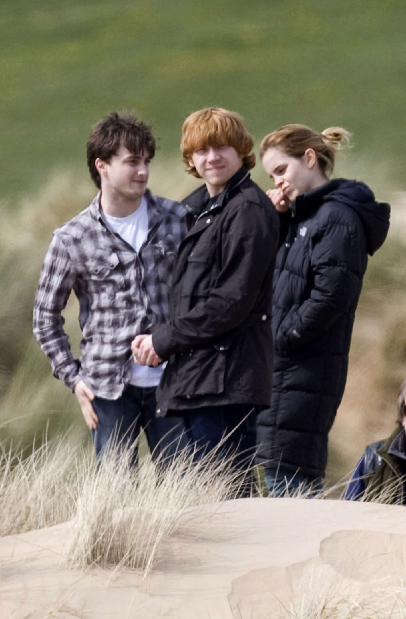 Daniel Radcliffe, Rupert Grint y Emma Watson - Reliquias de la Muerte