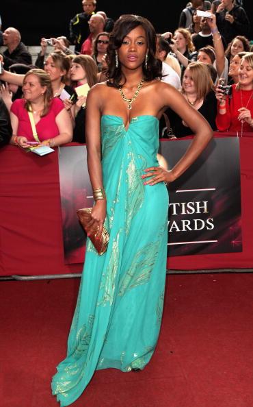 Tiana Benjamin en los Bristish Soap Awards