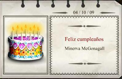 Cumpleaños de Minerva McGonagall