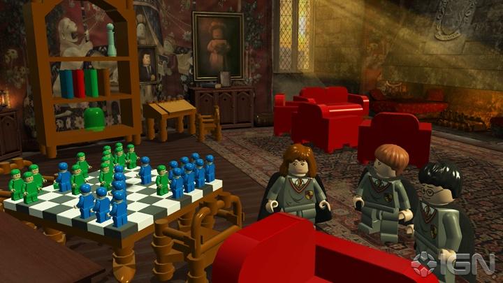 Harry Potter, Ron y Hermione jugando ajedrez