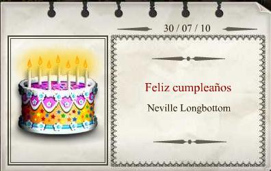 Harry Potter Cumpleaños Neville
