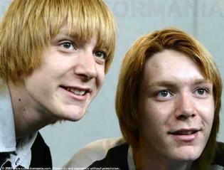 Harry Potter James y Oliver Phelps