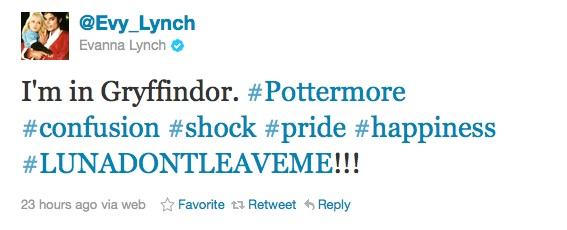 Evanna Lynch es Gryffindor