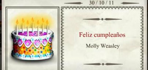 Harry Potter BlogHogwarts Molly Cumpleaños