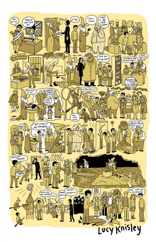 Los 7 Libros de Harry Potter  en Tira Cómica