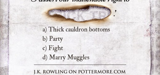 Harry Potter BlogHogwarts Truco Pottermore