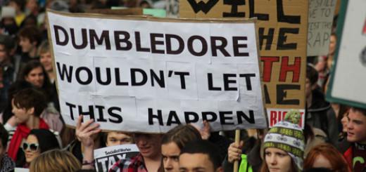 dumbleore protesta